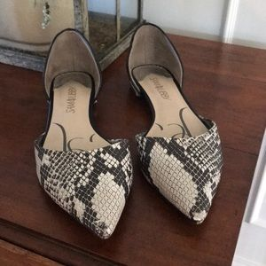 Sam&Libby D'Orsay Faux snakeskin shoes. Size 8